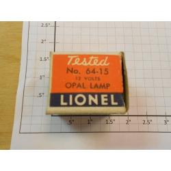 Lionel 64-15 12 Volt Opal Lamp in Box