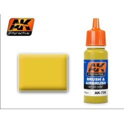 AK Interactive 739 Yellow Acrylic Paint 17ml Bottle