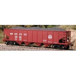 Bowser 41216 HO Pennsylvania Railroad H22 4-Bay Hopper with Clamshell