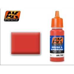 AK Interactive 740 Red Acrylic Paint 17ml Bottle