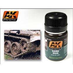 AK Interactive 23 Dark Mud Enamel Paint 35ml Bottle