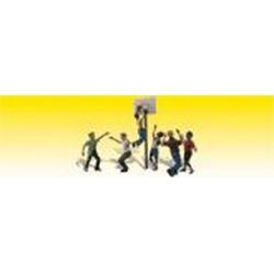 Woodland Scenics A2207 N Scale Shootin' Hoops Basketball Figures (6)