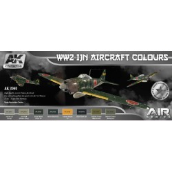 AK Interactive 2060 Air Series: WWII IJN Aircraft Colors Acrylic Paint