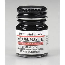 Testors 28015 1/2 Oz. Bottle Flat Black Lacquer Paint