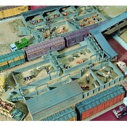 Walthers 933-3047 HO Stock Yards Building Kit