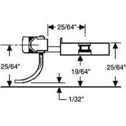 Kadee 41 HO Metal Long (25/64) Underset Shank