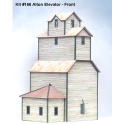 American Model Builders 166 HO  Alton Country Grain Elevator Wood Kit