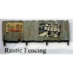 Model Tech Studios D1031PS N Scale Pre Aged Rustic Fencing w/Signs