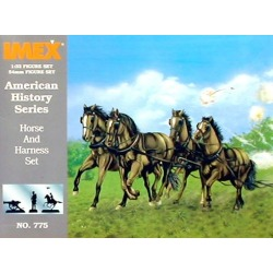 Imex 775 1:32 Union Horses & Harness Civil War Set