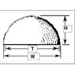 Plastruct 95844 VHH-18 Hemispherical Head Domes
