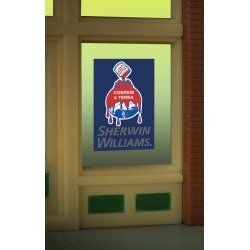 Miller Engineering 8935 HO/O Sherwin Williams Flashing Neon Window Sig found on Bargain Bro India from Trainz for $14.99