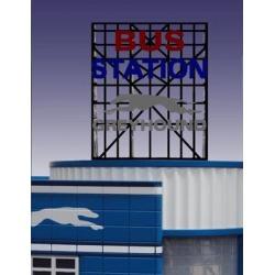 Miller Engineering 5681 O Greyhound Bus Station Animated Billboard