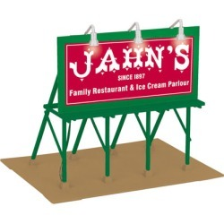 MTH 30-90495 O Jahn's Ice Cream Lighted Billboard found on Bargain Bro Philippines from Trainz for $34.95