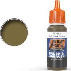 AK Interactive 4007 Buff Dark Shade Acrylic Paint 17ml Bottle