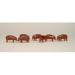 Ertl 12664-25 1:64 Pigs/Hogs - Duroc Brown - Bag of 25 found on Bargain Bro Philippines from Trainz for $7.44