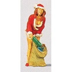 Preiser 29028 HO Santa's Sexy Helper #2 w/Sack of Gifts Figure