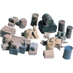Woodland Scenics D203 HO Crates, Barrels, & Sacks found on Bargain Bro India from Trainz for $8.19