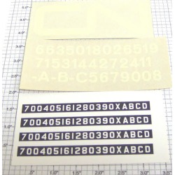 Walthers E-190 Canadian National Hood Diesel Decals