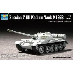 Trumpeter Models 7282 1:72 Russian T55 M1958 Medium Tank