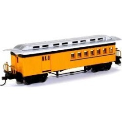 Bachmann 13503 HO Painted & Unlettered 1860-1880 Wood Combine (Yellow)