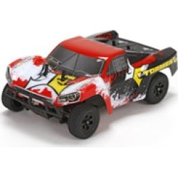 ECX 00014T2 1/24 Torment 4wd Short Course Truck: Black/Red Ready-to-Ru