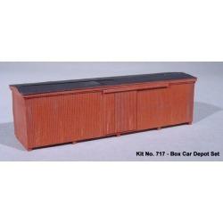 American Model Builders 717 HO Box Car Depot Lineside Structures Kit