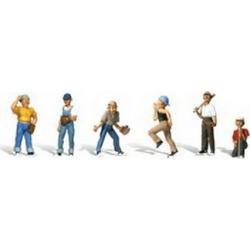 Woodland Scenics A2146 N Scale Baseball Players Figures #2 (6)