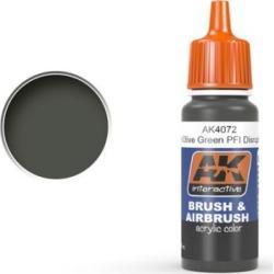 AK Interactive 4072 Khaki Green Acrylic Paint 17ml Bottle