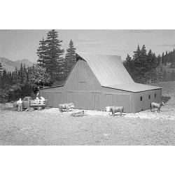 American Model Builders 711 HO Feeder Barn Lineside Structures Kit