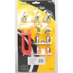 O-Line 810 Gas Station Figure & Accessory Set (8) found on Bargain Bro Philippines from Trainz for $37.49