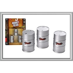 Hobby Gear 17013 1:24 50 Gallon Drum Set - Perfect for garage layouts found on Bargain Bro India from Trainz for $5.50