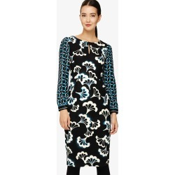 Phase Eight Mireya Fan Print Midi Dress, Multicoloured, Fitted found on Bargain Bro UK from Phase Eight