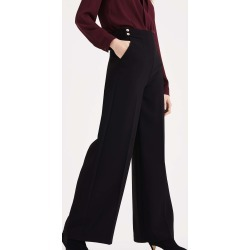 Phase Eight Women's Diane Button Wide Leg Trousers, Black, Wide found on Bargain Bro UK from Phase Eight