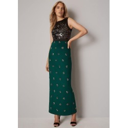 Phase Eight Gabby Embellished Maxi Dress, Green, Maxi found on Bargain Bro UK from Phase Eight