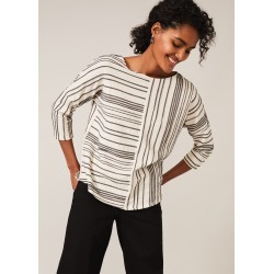Phase Eight Tess Textured Stripe Top, Cream, Tops found on MODAPINS from Phase Eight for USD $63.58