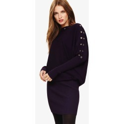 Phase Eight Becca Eyelet Knitted Dress, Purple, Knitted found on Bargain Bro UK from Phase Eight