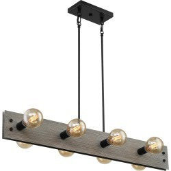 Nuvo Lighting Nuvo Stella 40 Inch 8 Light Linear Suspension Light Stella - 60/7233 - Industrial
