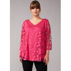Studio 8 Ashanti Spot Burnout Top, Pink, Tops found on Bargain Bro UK from Phase Eight