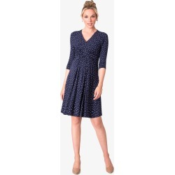 Eva A Line Dress, Blue