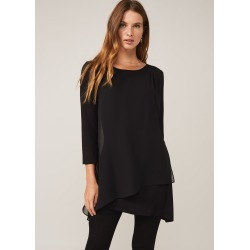Phase Eight Mika Longline Top, Black, Tunic found on Bargain Bro UK from Phase Eight