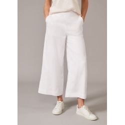 Phase Eight Women's Luna Linen Trouser, White, Cropped found on Bargain Bro UK from Phase Eight