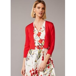 Phase Eight Salma Lightweight Knitted Jacket, Red, Bolero found on Bargain Bro UK from Phase Eight