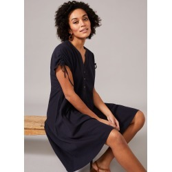 Phase Eight Mimoza Linen-Blend Swing Dress, Grey, Swing found on MODAPINS from Phase Eight for USD $57.88