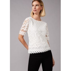 Phase Eight Kayleigh Lace Top, Cream, Tops found on MODAPINS from Phase Eight for USD $30.88