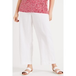 Studio 8 Women's Alina Linen Trousers, White, Wide found on Bargain Bro UK from Phase Eight