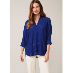 Phase Eight Vanessa V-Neck Lace Top, Blue, Tops found on MODAPINS from Phase Eight for USD $61.76