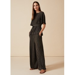 Phase Eight Adia Stripe Tie Top, Black, Tops found on MODAPINS from Phase Eight for USD $56.13