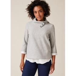 Phase Eight Mica Split Cowl Neck Top, Grey, Tops found on Bargain Bro UK from Phase Eight