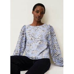 Phase Eight Meribel Floral Print Top, Blue, Tops found on MODAPINS from Phase Eight for USD $77.75