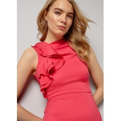 Phase Eight Brittany Frill Shoulder Maxi Dress, Pink, Maxi found on Bargain Bro UK from Phase Eight